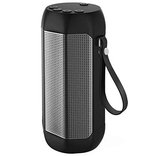 Hompot Portable Bluetooth Speakers IPX6 Waterproof, 12W Dual Drivers & Rich Enhanced Bass, Built in Mic for Hands free Calling, 24H Playing Time with TF Card and FM Radio for Camping, Beach, Shower by HOMPOT