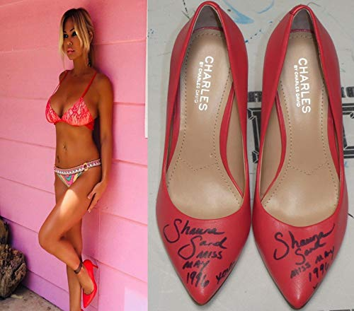 (Shauna Sand Signed Personally Worn Used High Heels Shoes BAS Beckett COA Playboy - Beckett Authentication)