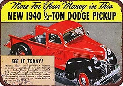 1940 Dodge Truck Half Ton Pickup Truck Reproduction Metal