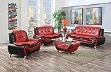 US Pride Furniture S5066-3PC 3 Piece Modern Bonded Leather Sofa Set