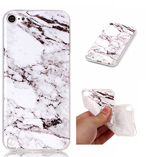 iPod Touch 5 Case Clear, iPod Touch 6 Case, Beimu Marble Series Slim Fit Transparent Hybrid Premium Soft Rubber TPU Gel Silicone Case Protective Cover Skin for Apple iPod Touch 5 6th Generation