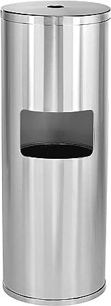 Alpine Industries Black Steel Fitness Cleaner Gym Wipe Dispenser /& Trash Can