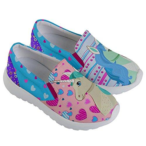 PattyCandy Girls Love Unicorn Prints Lightweight Slip On Shoes - US 2Y by PattyCandy (Image #2)