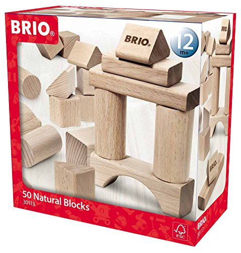 BRIO Wooden Block Set, 50-Piece - Ravensburger Block
