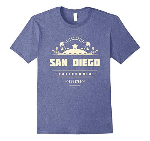 Mens San Diego California tshirt top for Men Women Kids Medium Heather Blue