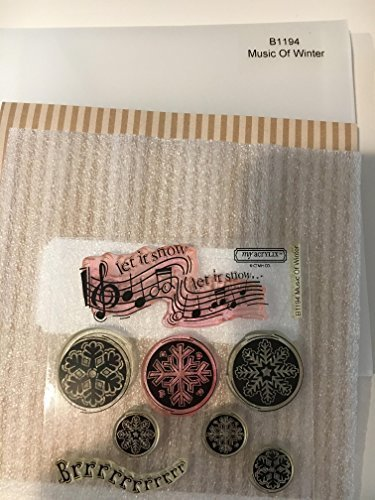 Rubber Stamps Ctmh - Close To My Heart B1194 Music Of Winter My Acrylix Stamp Set CTMH