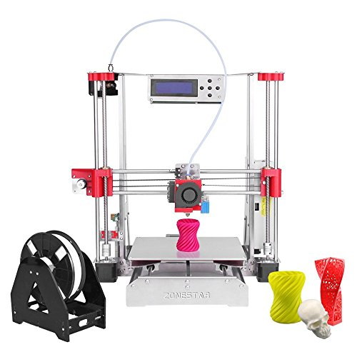 ZONESTAR P802Q Prusa i3 Metal FDM 3D Printer DIY Kit Support Auto Leveling Resume Upgrade Large Printing Size 220 220 240mm High Accuracy w/ Heatbed + 0.5kg 1.75mm White PLA Filament Printers ZONESTAR