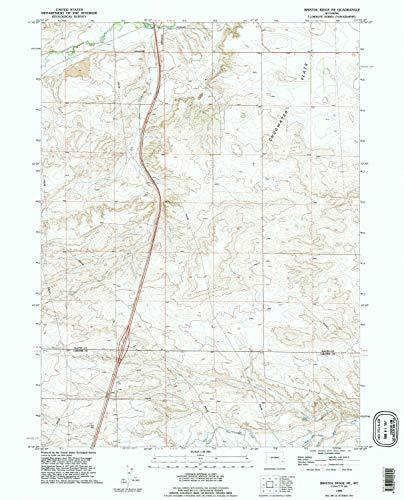 YellowMaps Bristol Ridge NE WY topo map, 1:24000 Scale, 7.5 X 7.5 Minute, Historical, 1990, Updated 1995, 26.8 x 21.7 in - Tyvek