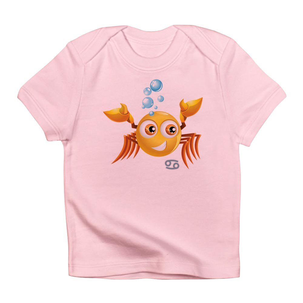 12 To 18 Months Petal Pink Truly Teague Infant T-Shirt SmileyFace Zodiac Cancer
