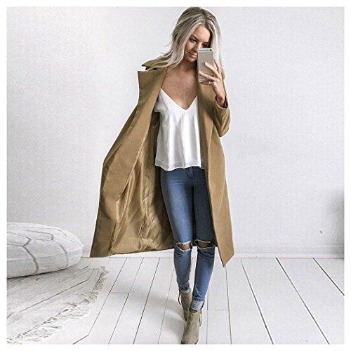 Womens Khaki Lapel Parka Long Coat Cardigan Winter Fuibo Outwear Overcoat Jacket 6qvdRRw