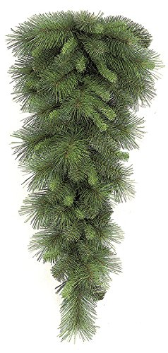34'' Artificial Mixed Pine Teardrop Swag -Green (pack of 6)