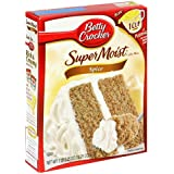 Betty Crocker Supermoist Cake Mix, Spice, 18.25-Ounce Boxes (Pack of 12)