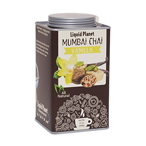 All-Natural Chai Tea, Chai Powder in 12oz Tin From Liquid Planet (Mumbi Vanilla)