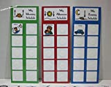 DAILY PECS PICTURE SCHEDULE W/ 3 CHARTS AND 45 COLORFUL ''PEC'' PICTURES FOR CHILDREN/ADULTS W/ AUTISM, SPEECH DELAYS
