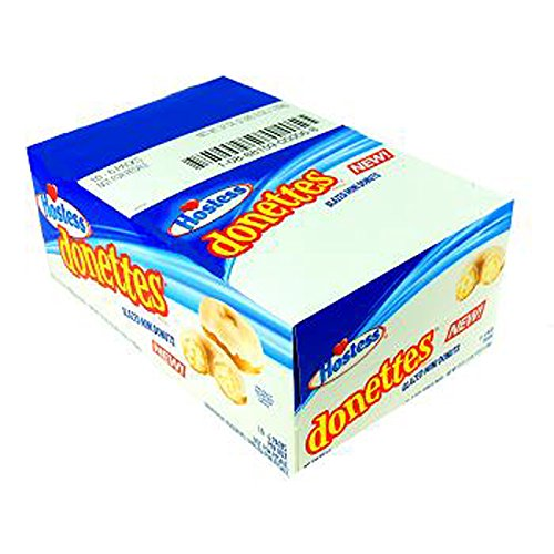 Hostess Donettes Mini Glazed Donut, 10 Count (CAKES & (Glazed Mini Muffins)