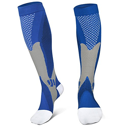 JHM Premium Compression Socks 20-30mmHg -Strong Support Best Graduated Pressure Sports Running Recovery Shin Splints Varicose Veins Socks Stockings-Boost Performance,Blood Circulation& Recovery