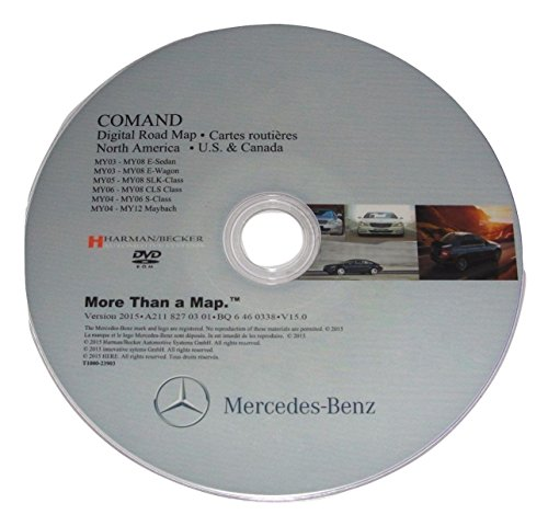 LATEST MAPS UPDATE for MERCEDES BENZ NTG1 2016 v.15 NAVIGATION DVD CD COMAND NORTH AMERICA + CANADA Map GPS SYSTEM