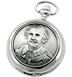 A E Williams 4829 William Shakespeare mens quartz pocket watch with chain