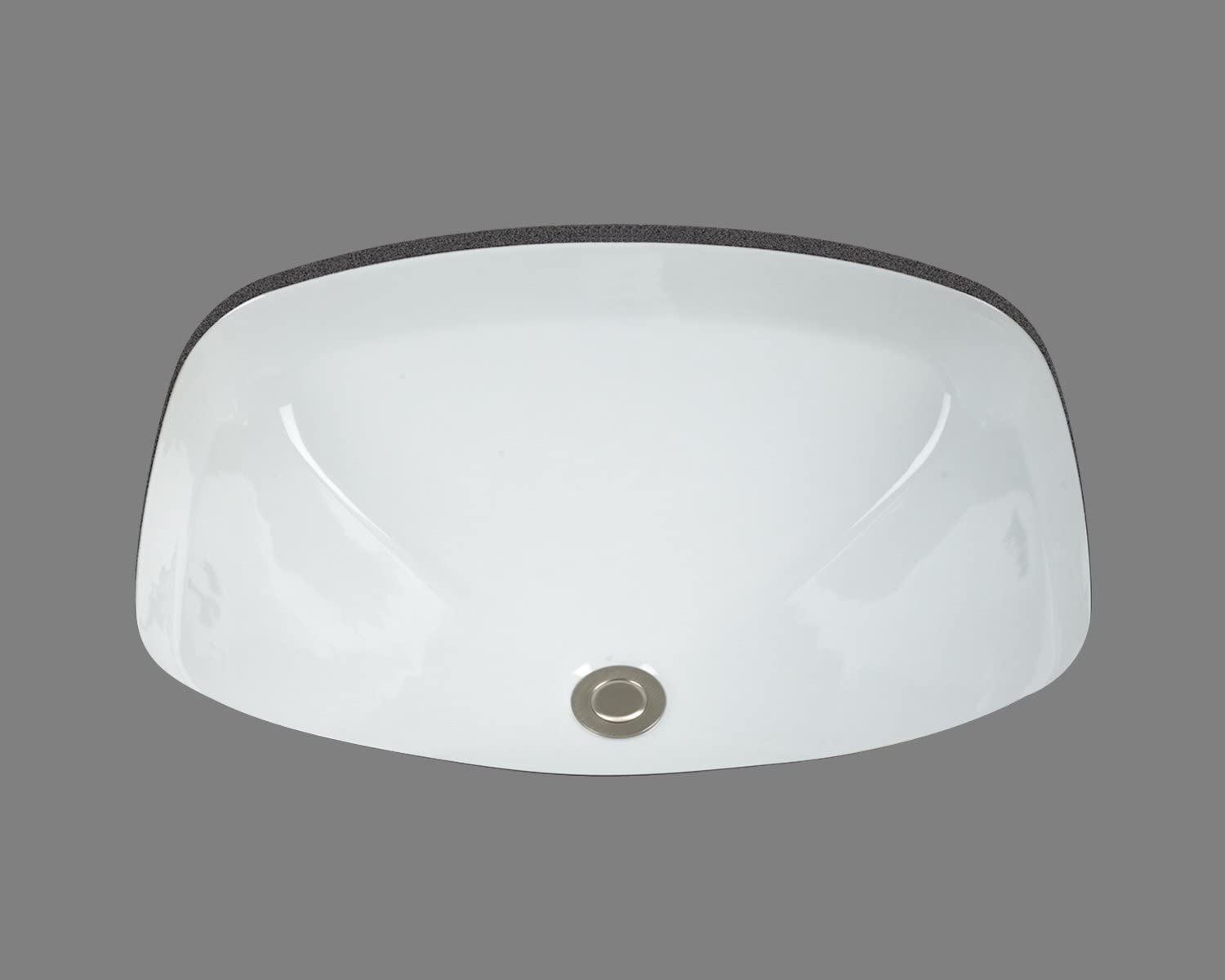D Above Counter Square Vessel in White Color for Wall Mount Faucet American Imaginations AI-888-14030 W x 16.5-in