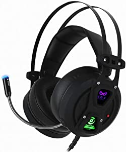 NOX ANC Active Noise Cancelling Control Gaming Headset, 7.1 Channel Surround Stereo, Comfortable Leather Earbuds, with USB Port, Works for PC, Notebook (NOX_Black Hole)