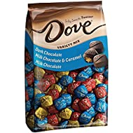 DOVE-PROMISES Variety Mix-Individually Wrapped Chocolate Candies-Dark Chocolate, Milk Chocolate & Caramel, Milk Chocolate-153 Piece Bag
