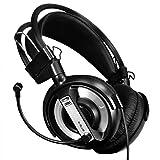 DZT1968 USB 3.5mm Surround Stereo Gaming Headset Headband Headphone with Mic for PC (Black)