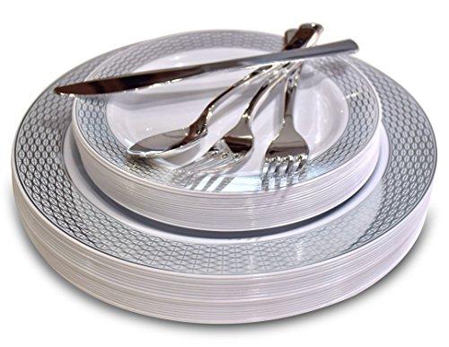 Silver Plates Amscan Ami 650013 18 Amscan Silver Big
