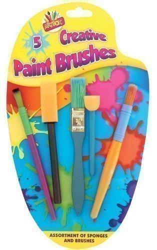 Per bambini, 5 x Creative-Colla, vernice e pennelli Art Craft-Set per pittura Tallon