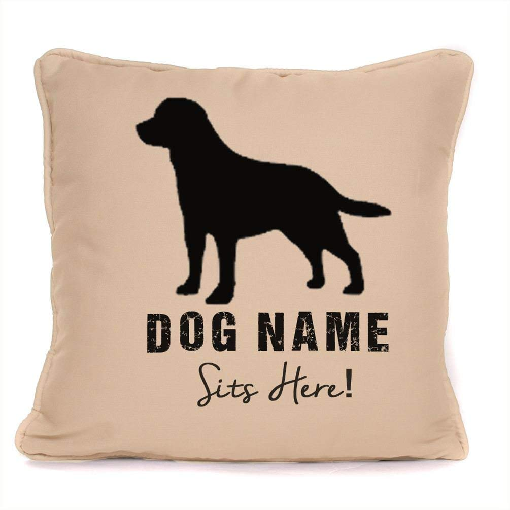 Personalised Gift For Dog - Labrador Retriever - Customizable Cushion Cover, Pillow Case - 18 x 18 Inch.