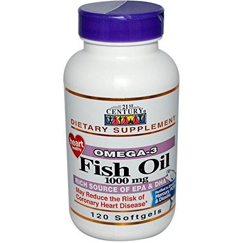 21st Century, Fish Oil, 1000 mg, 120 Softgels - 3PC