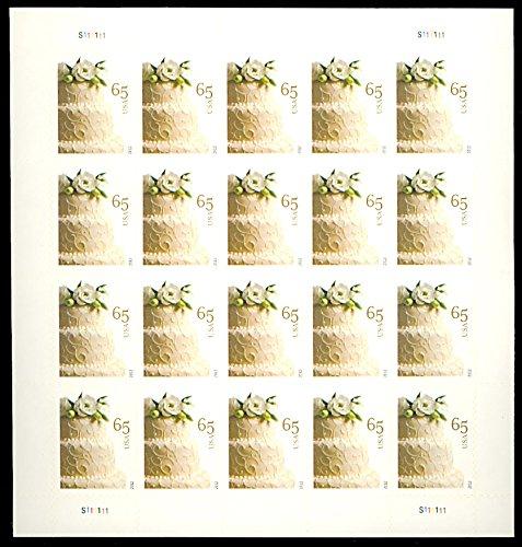 Wedding Cake Sheet of 20 X 65 Cent Stamps Scott 4602 By (Wedding Cake Stamp)
