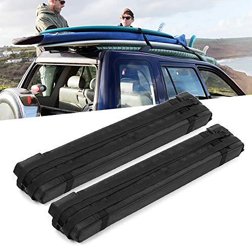 Explopur 2pcs Soft Foam Block Roof Rack Bars for Car Rooftop Kayak Surfboard Cargo Carrier ()