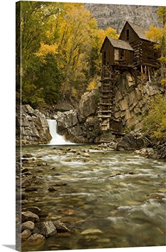 Don Grall Premium Thick-Wrap Canvas Wall Art Print entitled Colorado, Gunnison National Forest. Wildhorse Mill on the Crystal River - Mills Colorado 16