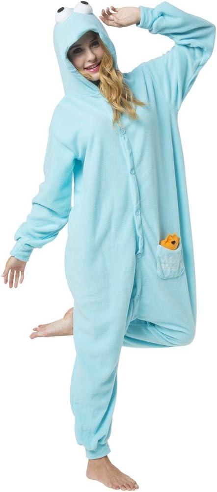 Katara-(10+ Modelos) Kigurumi Pijamas Disfraz de Animal Halloween Carnaval, Adultos, Color monstruo de las galletas, Talla 145-155cm (1744) , color/modelo surtido
