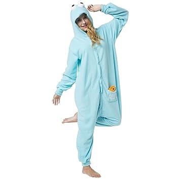 Katara 1744 - Kigurumi Pijamas Disfraz de Animal Traje de Noche con Capucha Adultos Unisexo -