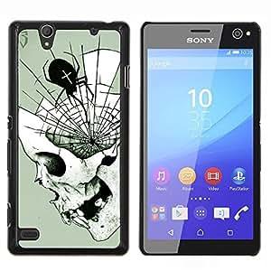 """Be-Star Único Patrón Plástico Duro Fundas Cover Cubre Hard Case Cover Para Sony Xperia C4 E5303 E5306 E5353 ( Araña de Halloween del cráneo Death Metal"""" )"""