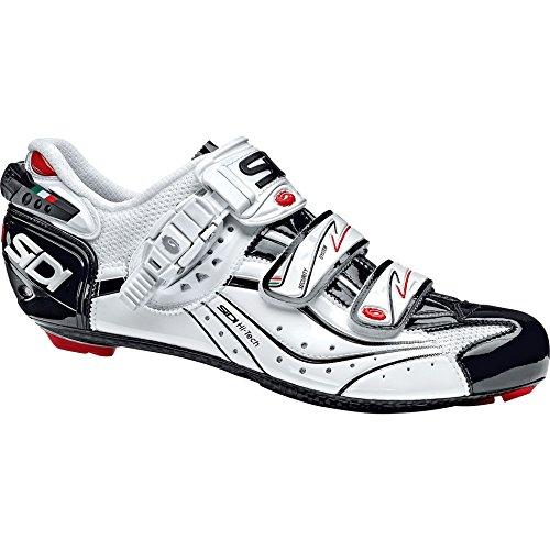 Sidi Genius 6.6 Carbon Mega Vernice Shoes 2014 White-Black 45