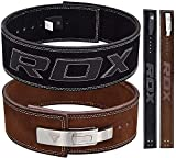 RDX Gym Weight Lifting Lever Buckle Powerlifting Belt Cow Hide Leather Fitness Exercise Bodybuilding