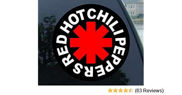 red hot chili peppers vinyl decal window or bumper sticker  rock and roll band