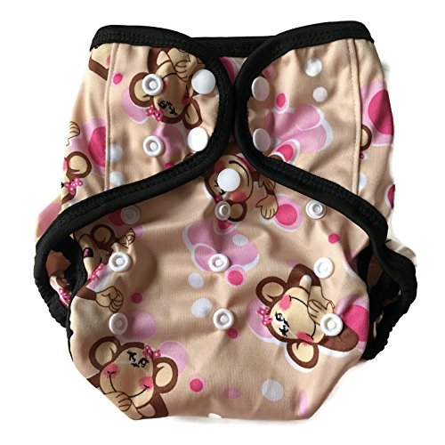 BB2 Baby One Size Printed Black Gussets Snaps Cloth Diaper