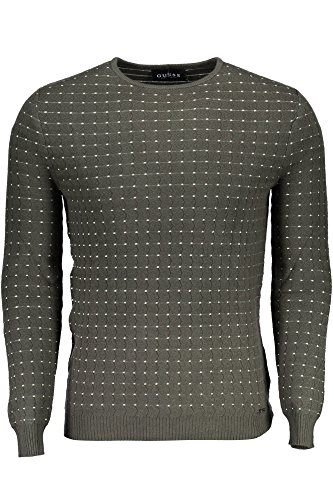 Homme Glow Guess Verde Gris G824 Pull B1cqw5T