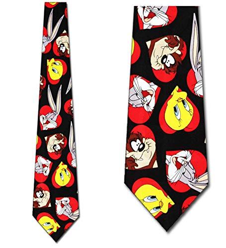 Looney Tunes In Hearts Tie - Mens Holiday Necktie ()