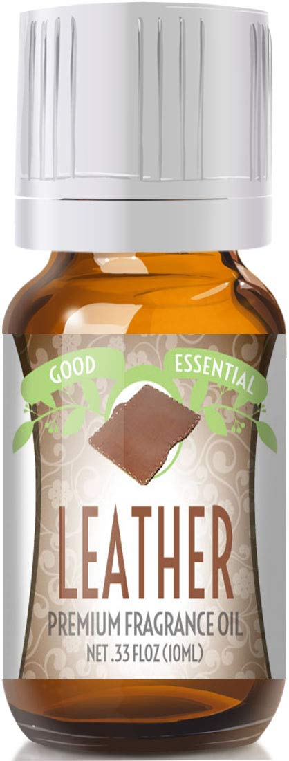Leather Scented Oil by Good Essential (Premium Grade Fragrance Oil) - Perfect for Aromatherapy, Soaps, Candles, Slime, Lotions, and More!