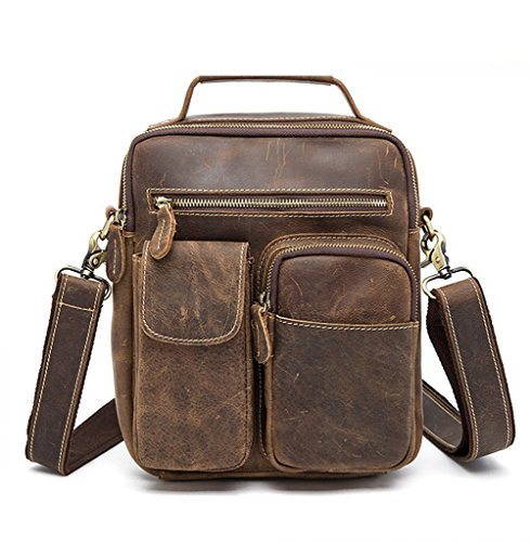 Design 1 Large Briefcases Shoulder Leather Vintage Sucastle Capacity Bags Men's Messenger nqPI08v