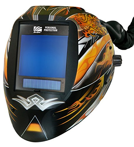 "ArcOne AP-X81VX-1533 Vision Welding Helmet Shell with X81VX XTreme 5 x 4"" Digital ASIC and X-TIG Auto-Darkening Filter and AirPlus Respiratory System, Dragon Fire"