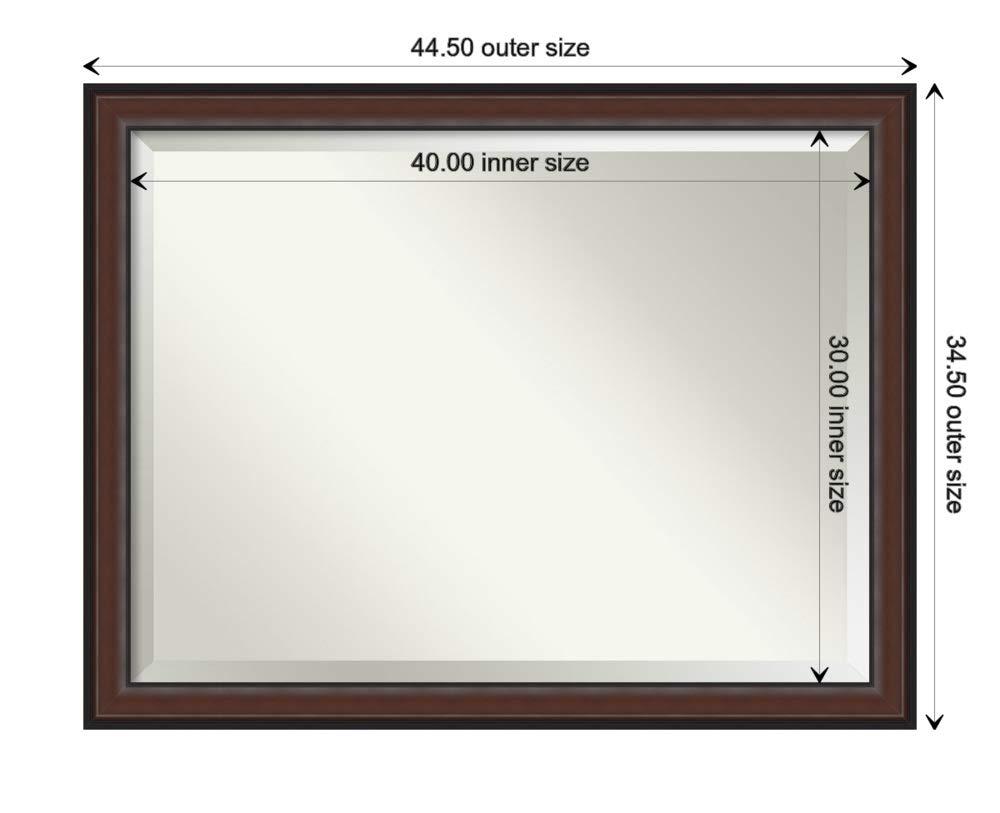 Wall Mounted Mirror Small Mirror Framed Vanity Mirror Bathroom Mirrors for Wall 24.50 x 20.50 Harvard Walnut Mirror