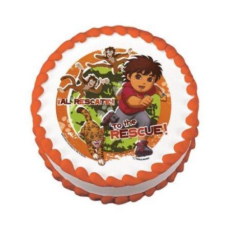 Go Diego Go Edible Cake Image Birthday Party NIP -