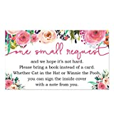Baby : Floral Baby Shower Bring a Book Insert - 50 Count