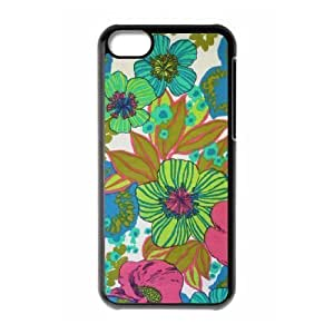 linJUN FENGVintage Flower ZLB544433 DIY Phone Case for ipod touch 5, ipod touch 5 Case