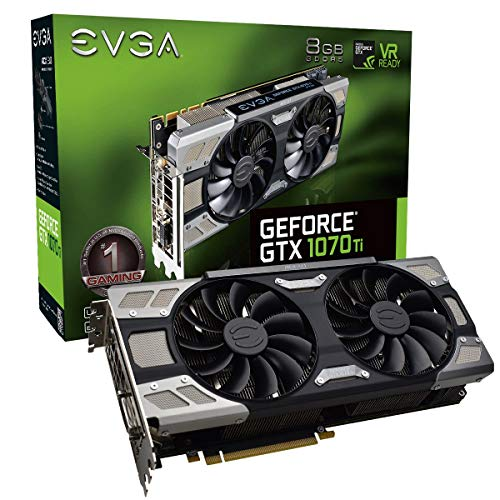 - EVGA GeForce GTX 1070 Ti FTW ULTRA SILENT GAMING, 8GB GDDR5, ACX 3.0 & RGB LED Graphics Card 08G-P4-6678-KR (Renewed)
